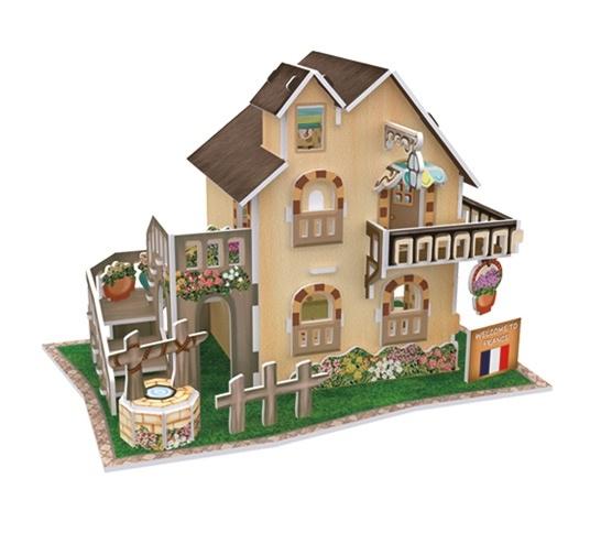 Puzzle 3D: Domki świata - Francja, Cottage (306-23118)
