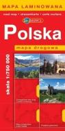 Polska mapa drogowa Europilot 1:750 000 laminowana