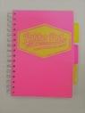 Kołozeszyt Pukka Pad Project Book Neon a5 200k kratka różowy