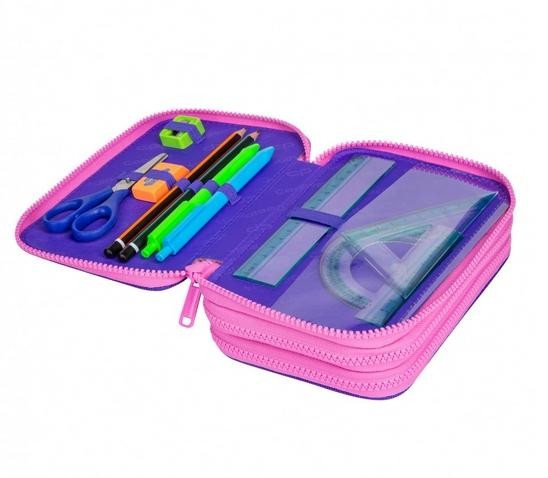 Coolpack - Jumper 3 - Piórnik potrójny z wyposażeniem - Purple Scrible (D067341)