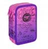 Coolpack - Jumper 3 - Piórnik potrójny z wyposażeniem - Purple Scrible