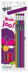 Ołówki Furby 4 sztuki z temperówką