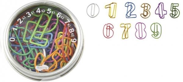 Zestaw mini spinaczy Cyfry MAILDOR