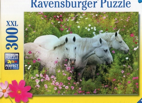 Puzzle XXL 300 Konie w kwiatach (132188)