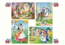 PUZZLE 4W1 SNOW WHITE AND THE SEVEN DWARFS 3+ TW