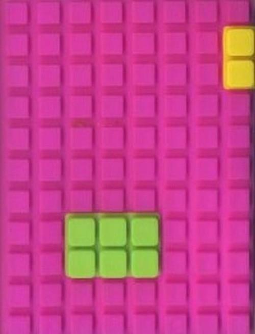 Notes silikonowy A7 Unipap Blocks w kratkę 60 kartek fioletowy