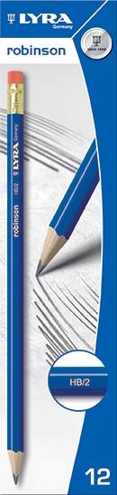 Ołówek Lyra Robinson Hb z gumką 1220100 4084900030189