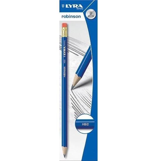 Ołówek Lyra Robinson HB z gumką (L1220100)
