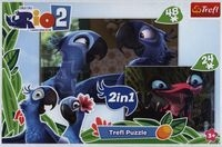 Puzzle Rio 2 2w1 48+24 (34418)