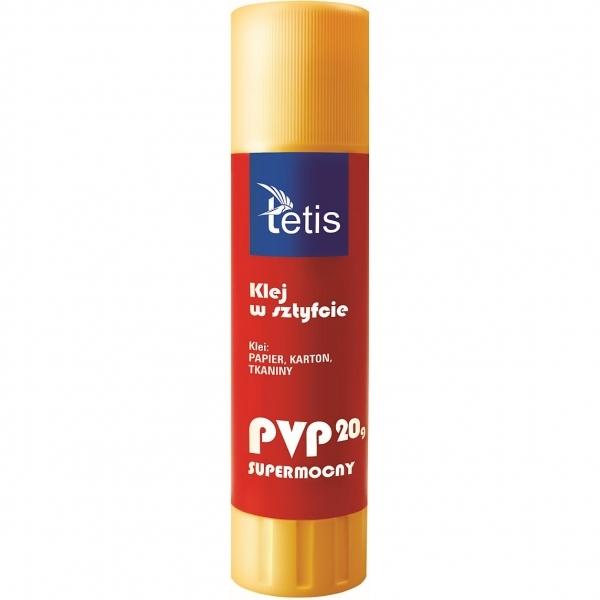 Klej w sztyfcie Tetis PVP 20g, 12 szt. (BG100-F)