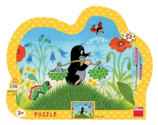 Puzzle 25 Krecik z gąsienicą DINO