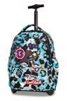 CoolPack - Junior - Plecak młodzieżowy na kółkach - Camo blue (Badges)