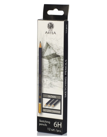 Ołówek do szkicowania 6H Astra Artea - box 12 sztuk (206118013)