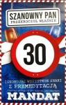 Karnet Urodziny 30 męskie JCX - 009