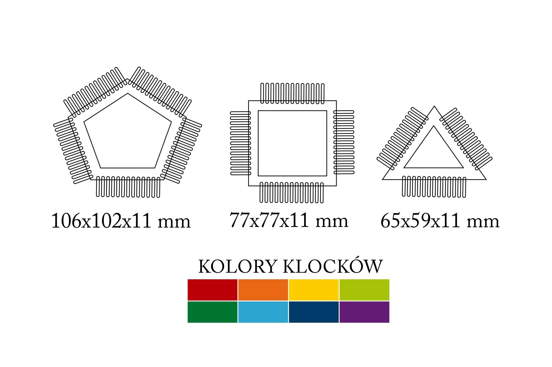 Klocki przestrzenne figury, 32 elementy (102191)