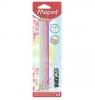 Ołówek HB z gumką Black'Peps pastel - 3 szt. (MPD-851719)
