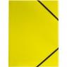 Teczka kartonowa na gumkę Tetis A4 - żółta (BT600-Y)