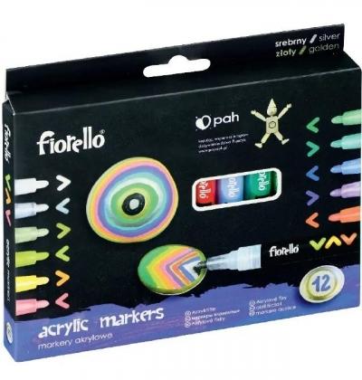 Markery akrylowe 12 kolorów FIORELLO