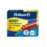 Naboje krótkie Pelikan 4001 TP/6, 6 szt. - czerwone  (301192)