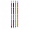 Ołówek HB grafitowy trójkątny z gumką