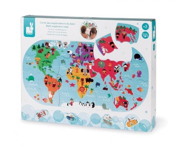 Puzzle do kąpieli 28: Mapa świata (J04719)