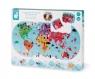 Puzzle do kąpieli Mapa świata 28 elementów (J04719)Wiek: 3+