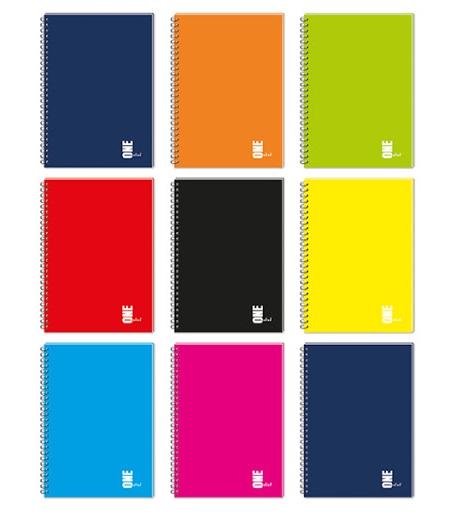 Kołozeszyt Interdruk A5/80 kartkowy w kratkę - UV One Color