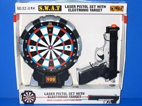 Tarcza Dart z pistoletem laserowym