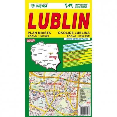 Plan miasta Lublin Wydawnictwo Piętka