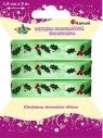 Wstążka dekoracyjna świąteczna, ostrokrzew (363090)