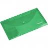 Teczka kopertowa transparentna w prążki DL - zielona (195147)