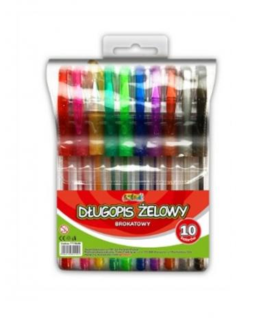 Długopis żelowy brokatowy Penmate Kolori 10 kolorów (TT7649)