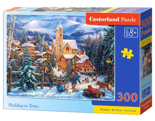 Puzzle Sledding-to-Town 300