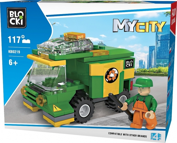 Klocki Blocki: MyCity - Śmieciarka 117 el. (KB0219)