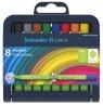 Cienkopis Schneider Link-It, 0,4 mm, stojak - podstawka, 8 szt. miks kolorów