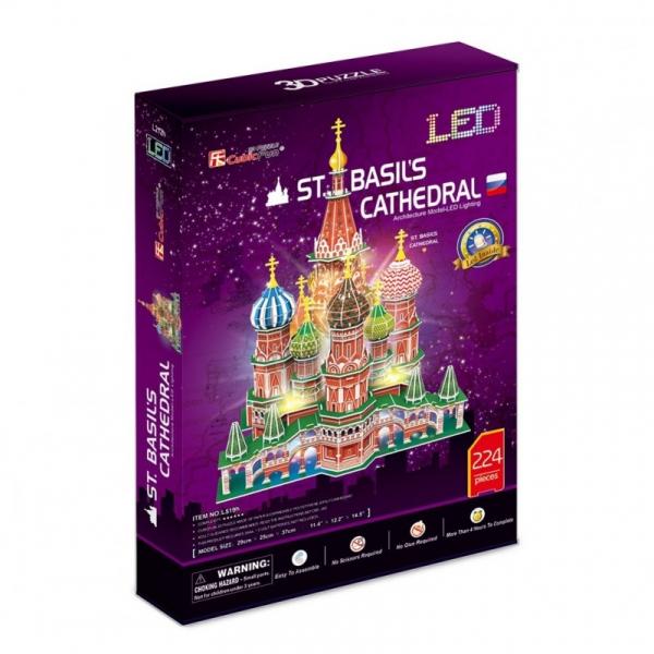 Puzzle 3D LED Katedra Św. Bazylego (306-20519)