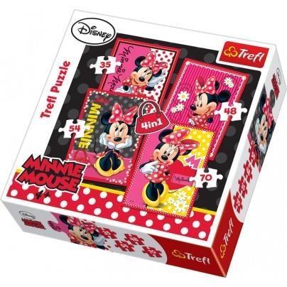 Puzzle 4w1 Piękna Minnie (34119)
