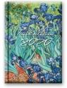 Kalendarz 2020 Dzienny B6 Soft Irysy 41DS-04