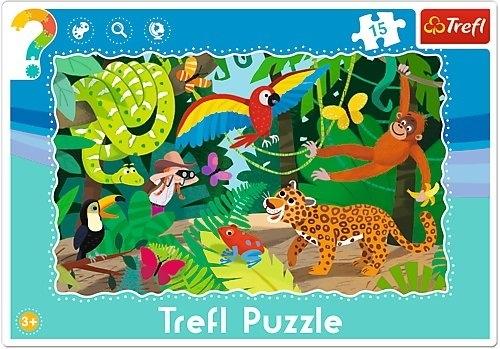 Las tropikalny - puzzle ramkowe (31219)
