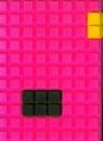 Notes silikonowy A7 Unipap Blocks  w kratkę 60 kartek ciemno różowy
