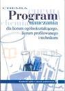 Chemia Program nauczania Liceum zakres podstawowy Litwin Maria, Styka-Wlazło Szarota