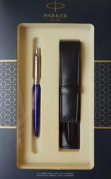 Zestaw upominkowy Parker: Długopis Parker Jotter Niebieski Royal CT + Etui Pagani (S0825190)