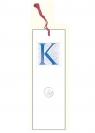 Zakładka do książki z anagramem - Litera K