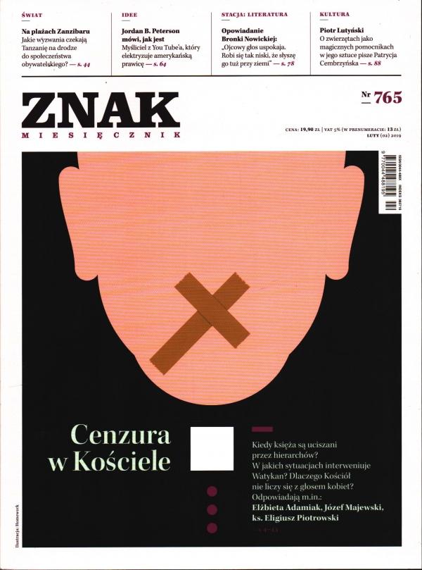 Miesięcznik ZNAK 765 - Cenzura w Kościele(2/2019) autor zbiorowy