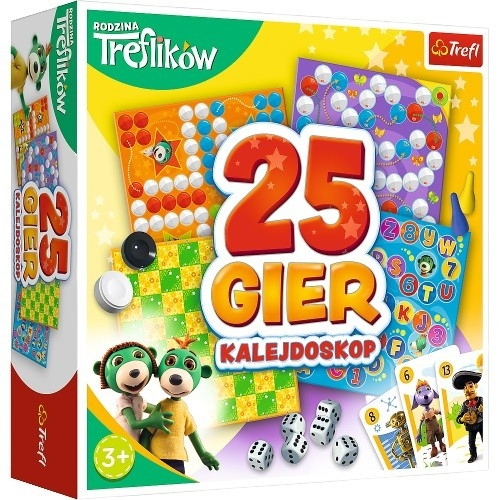 Gra Kalejdoskop 25 gier Rodzina Treflików (02119)