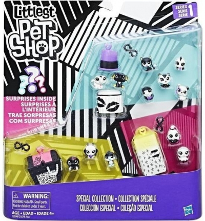 Littlest Pet Shop Black&White zestaw 4