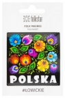 Magnes na lodówkę łowicki czarny Polska FOLKSTAR
