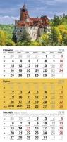 Kalendarz trójdzielny JEDNOPLANSZOWY 2018 MIX