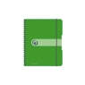 Brulion na spirali A6/100K kratka PP zielony