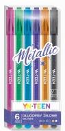 Długopis żelowy 6 kolorów Metallic YN TEEN